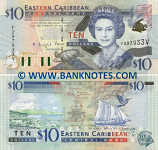Saint Vincent & The Grenadines 10 Dollars (2000) (F394910V) UNC