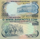South Viet-Nam 1000 Dong (1972) (Y3/2883xx) UNC-