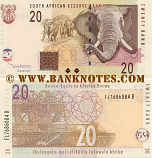 South Africa 20 Rand (2005) (FL76860xx B) UNC