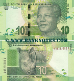 South Africa 10 Rand (2012) (AS23436xx A) UNC