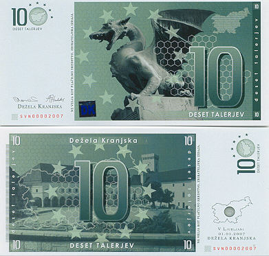 Slovenian Currency Gallery