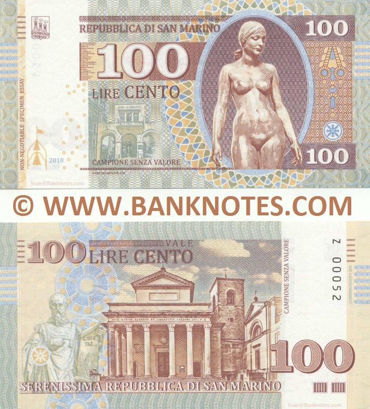 San Marino Currency Banknote Gallery