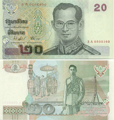Thailand 20 Baht (2003) - Thai Currency Bank Notes, Paper Money, World Currency, Banknotes ...