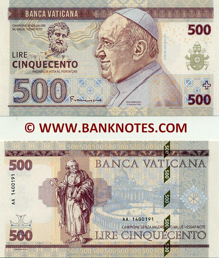 Vatican Currency Banknote Gallery
