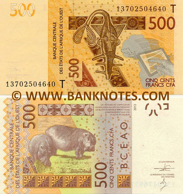 Togo  Togolese Currency Bank Notes West